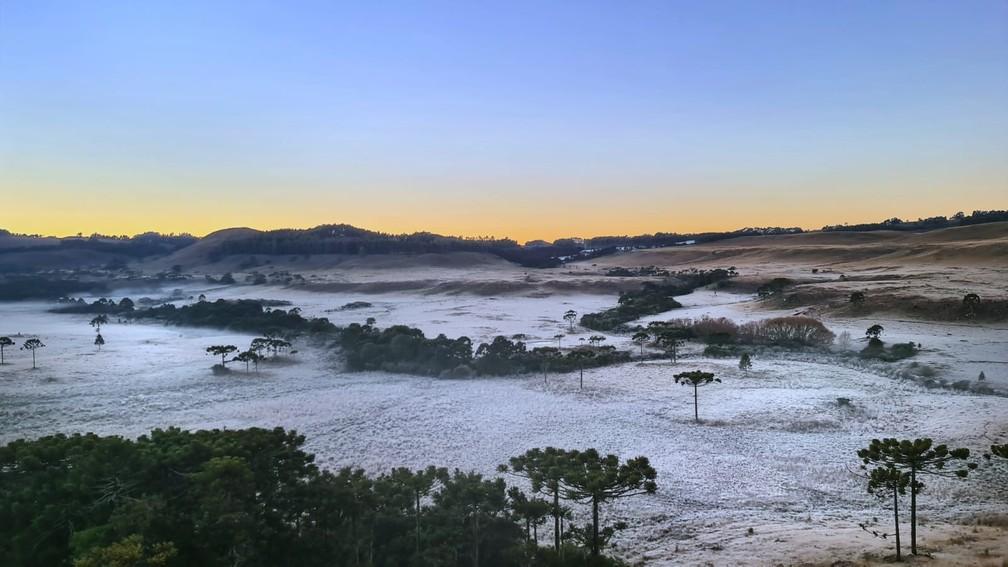 Frio vai permanecer durante toda a semana em Santa Catarina