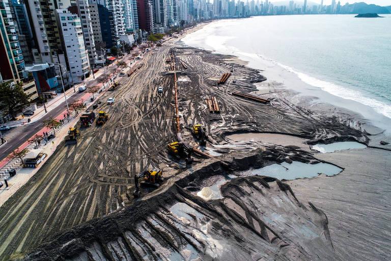Internet não perdoa e diz que tsunami virá para BC para acabar com a faixa de areia